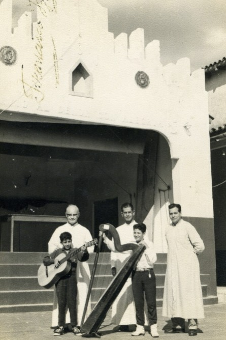 Marcos and Francisco with their teachers, 1963